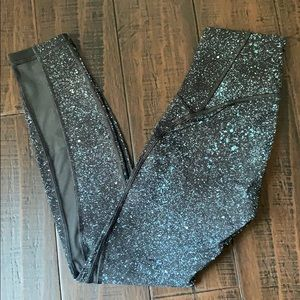 Lululemon Speckled Galaxy Leggings with Mesh